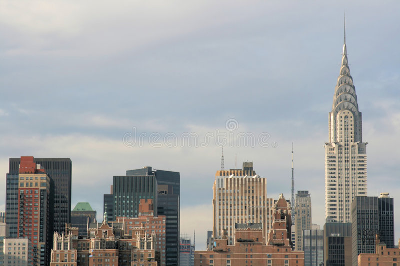 Skyline de Manhattan, New York City imagens de stock royalty free