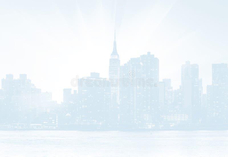 Skyline de Manhattan no por do sol imagens de stock royalty free