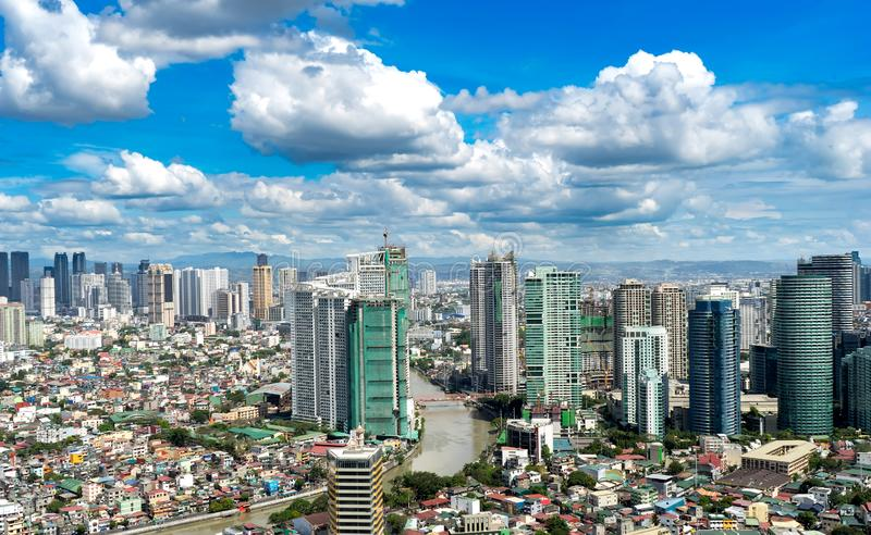 Skyline de Manila imagens de stock