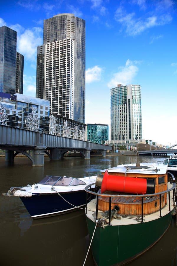 Skyline de Melbourne foto de stock royalty free