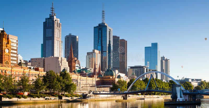 Skyline de Melbourne imagem de stock royalty free