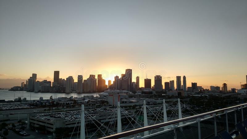 Skyline 4 de Miami foto de stock royalty free