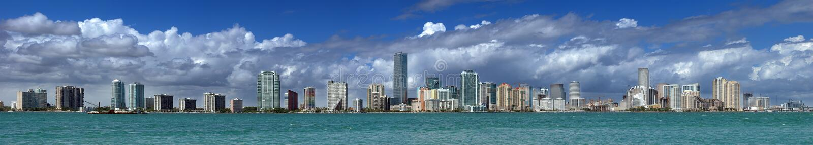 Skyline de Miami fotos de stock