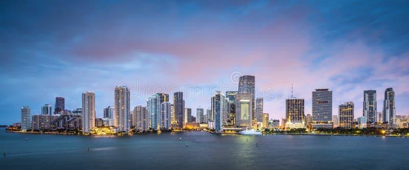Skyline de Miami imagens de stock