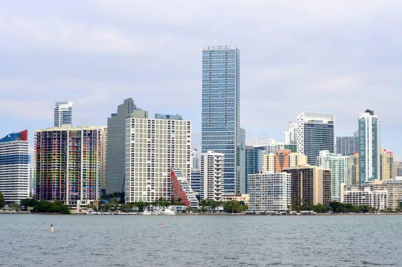 Skyline de Miami de Bayfront imagem de stock royalty free