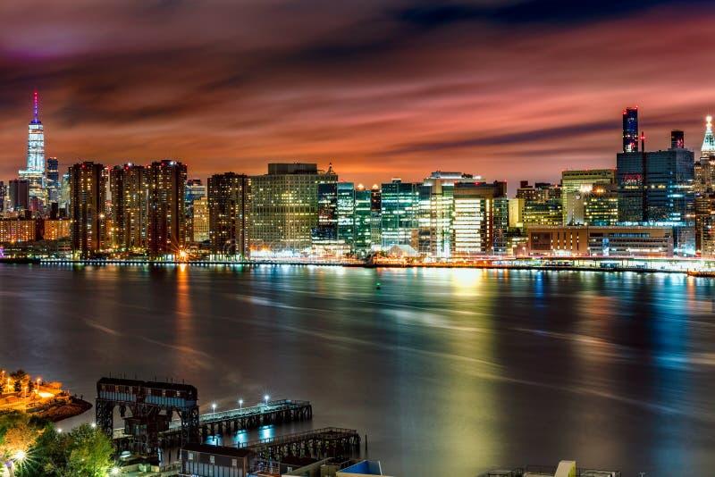 Skyline de Midttown Manhatten foto de stock royalty free