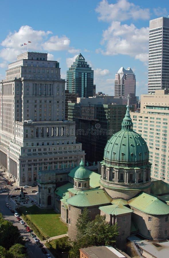 Skyline de Montreal em Dia fotos de stock royalty free