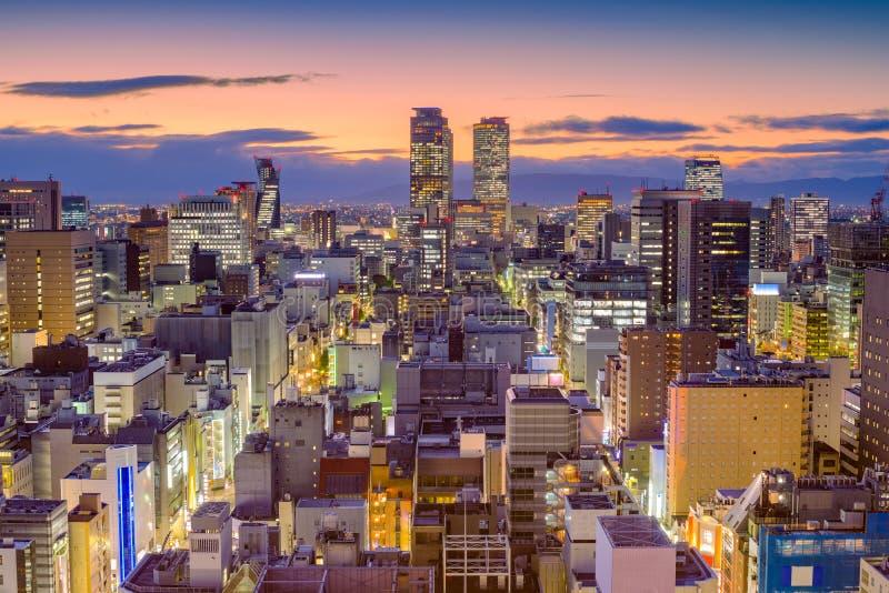 Skyline de Nagoya, Japão foto de stock