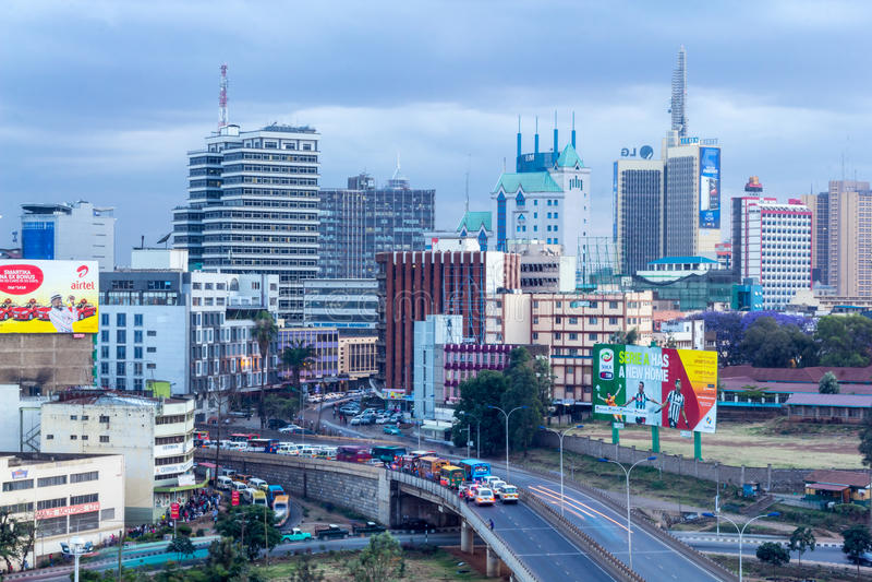 Skyline de Nairobi fotografia de stock