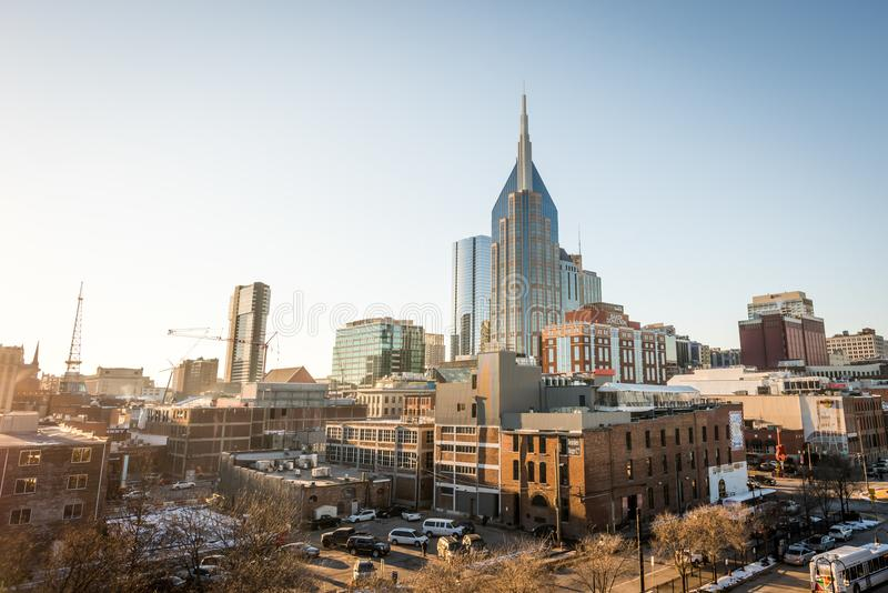 Skyline de Nashville imagem de stock royalty free