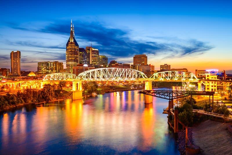 Skyline de Nashville imagem de stock royalty free