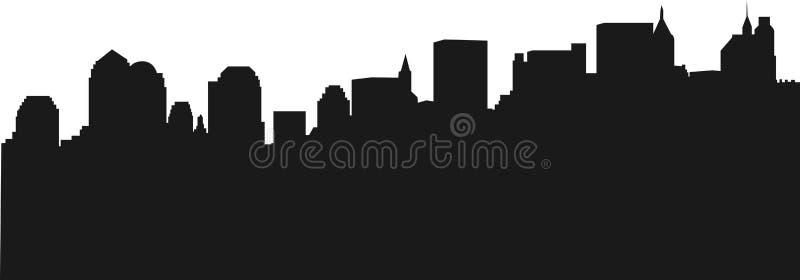 Skyline de New York ilustração stock