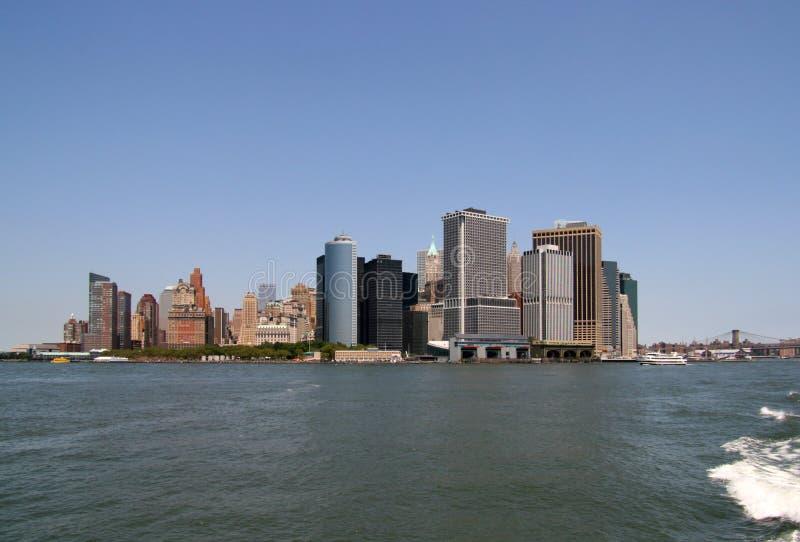 A skyline de New York City foto de stock