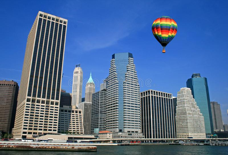 A skyline de New York City foto de stock royalty free