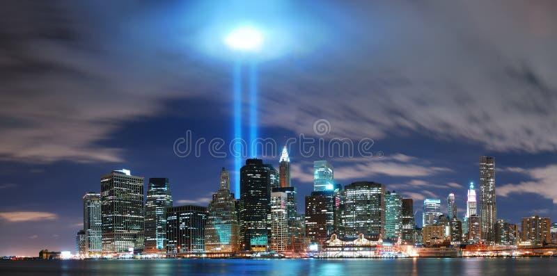 Skyline de New York City Manhattan fotos de stock royalty free