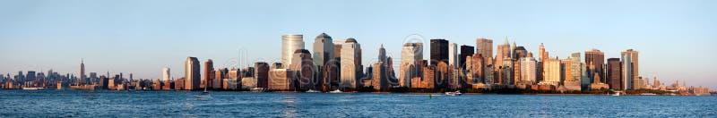Skyline de New York Manhattan fotografia de stock