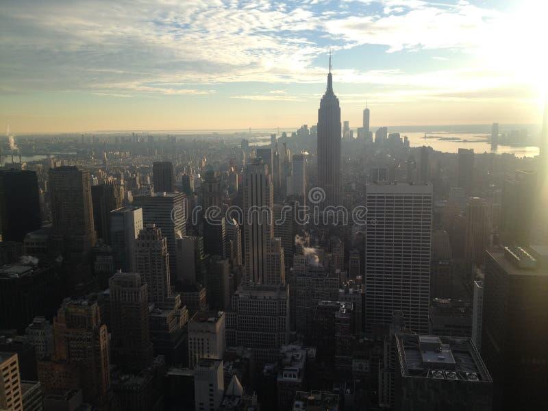 Skyline de New York - Manhattan fotografia de stock