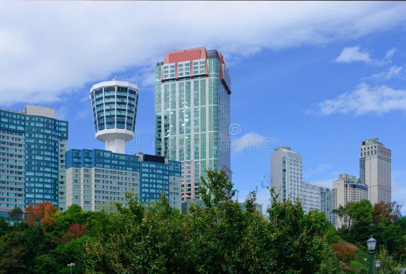 Skyline de Niagara Falls imagens de stock royalty free