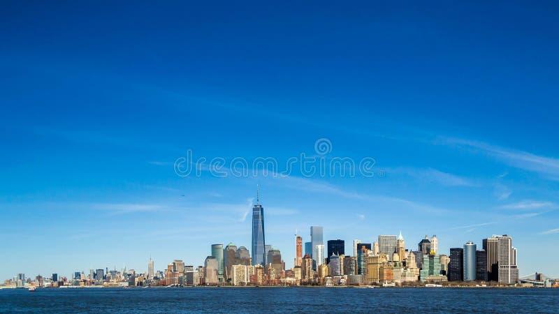 Skyline de NYC fotografia de stock royalty free