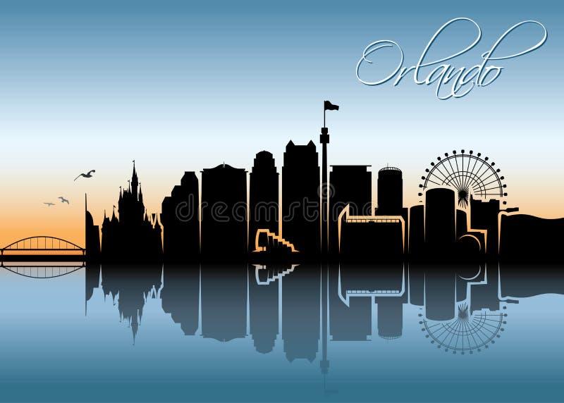 Skyline de Orlando - Florida - ilustração do vetor ilustração royalty free