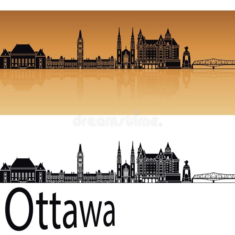 Skyline de Ottawa V2 ilustração royalty free