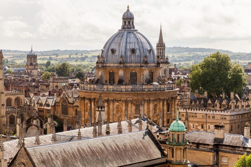 Skyline de Oxford com câmera de Radcliffe imagem de stock