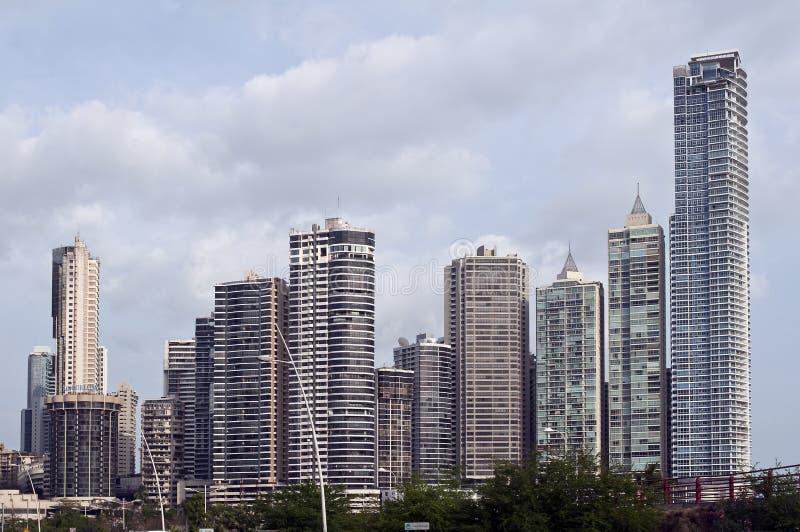 Skyline de Panama City, Panamá. imagem de stock