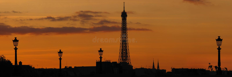 Skyline de Paris imagens de stock