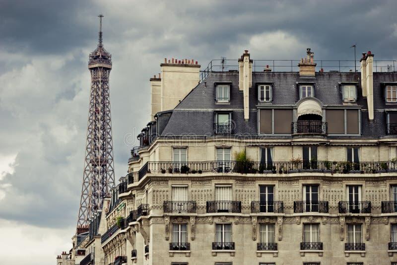 Skyline de Paris fotos de stock
