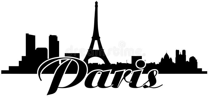 Skyline de Paris de Notre Dame de Paris ilustração do vetor