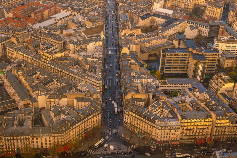 Skyline de Paris em França imagem de stock