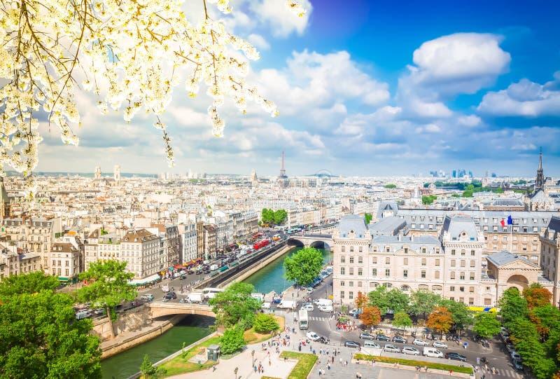 Skyline de Paris, France imagem de stock