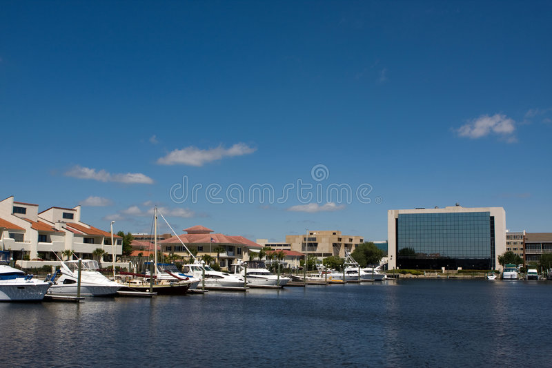 Skyline de Pensacola fotos de stock royalty free