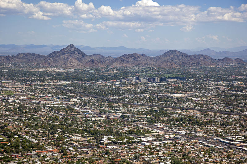 Skyline de Phoenix, o Arizona imagens de stock