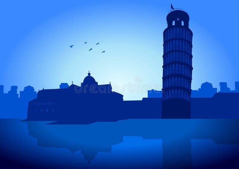Skyline de Pisa ilustração do vetor