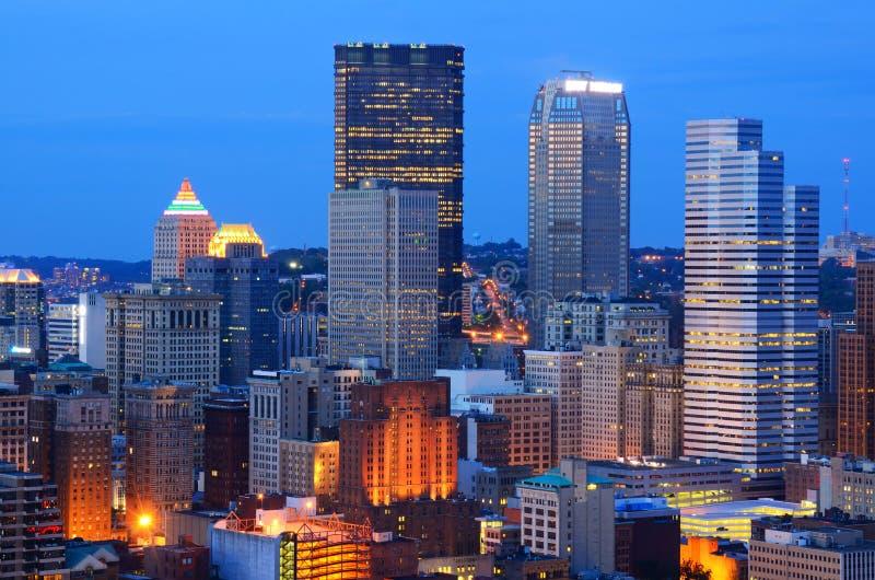 Skyline de Pittsburgh imagem de stock