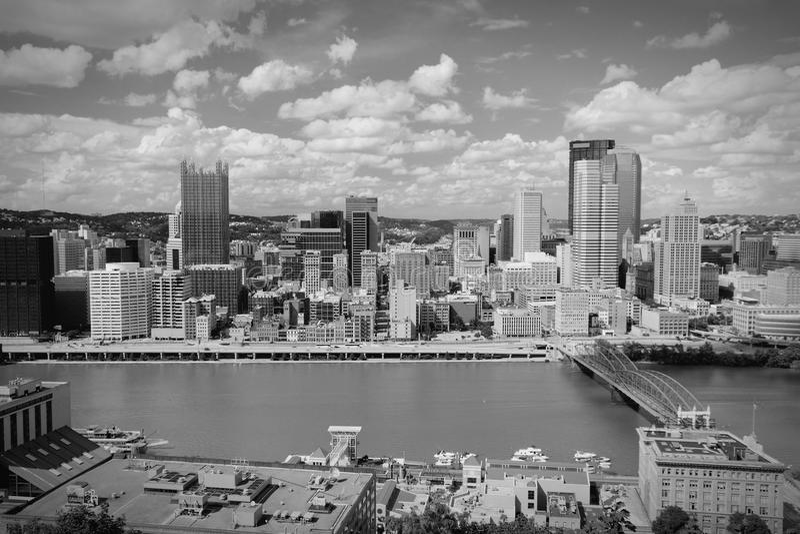 Skyline de Pittsburgh foto de stock