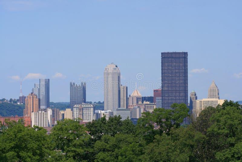 Skyline de Pittsburgh fotos de stock royalty free