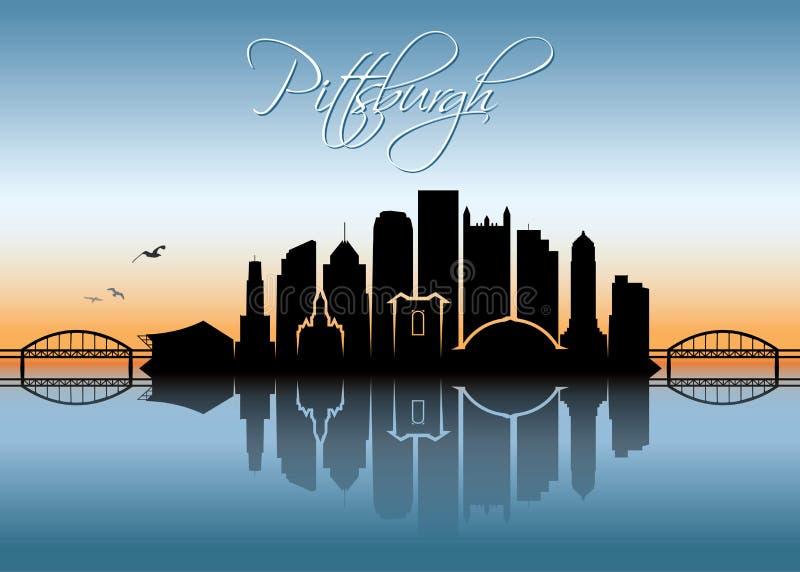 Skyline de Pittsburgh - Pensilvânia - ilustração do vetor ilustração royalty free