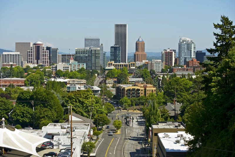 Skyline de Portland fotos de stock royalty free