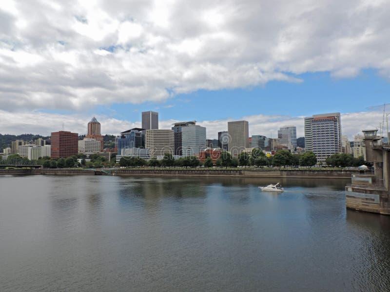 Skyline de Portland foto de stock