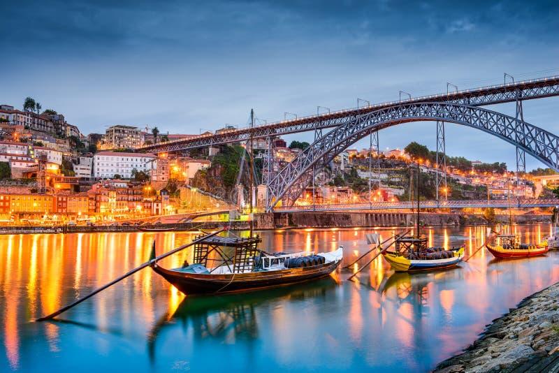 Skyline de Porto fotos de stock