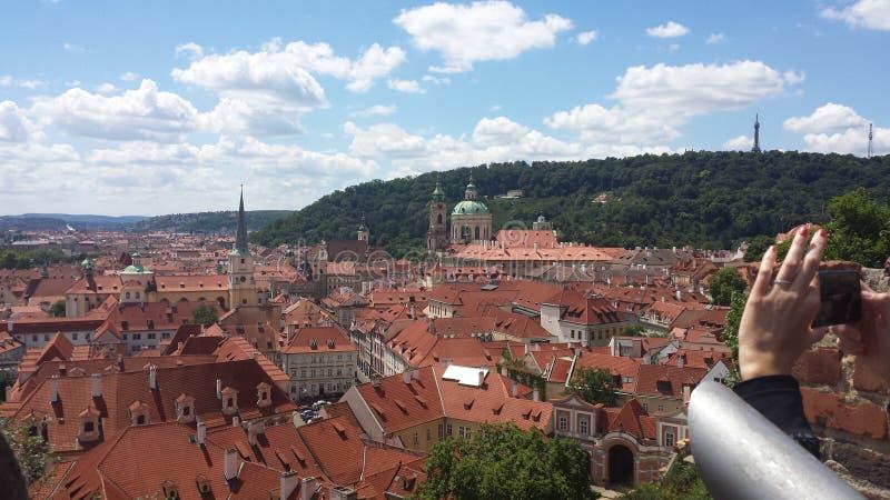 Skyline de Praga imagem de stock