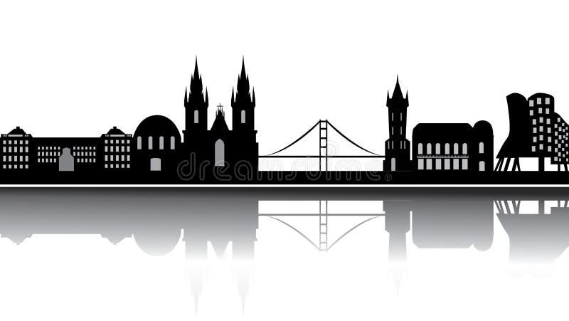 Skyline de Praga ilustração do vetor