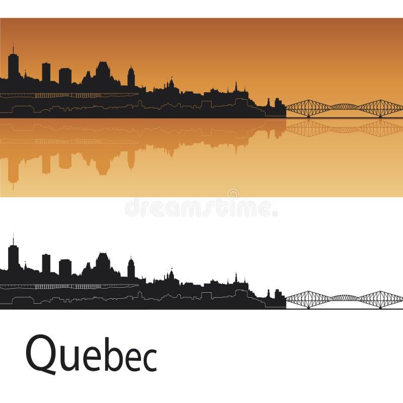 Skyline de Quebeque ilustração stock