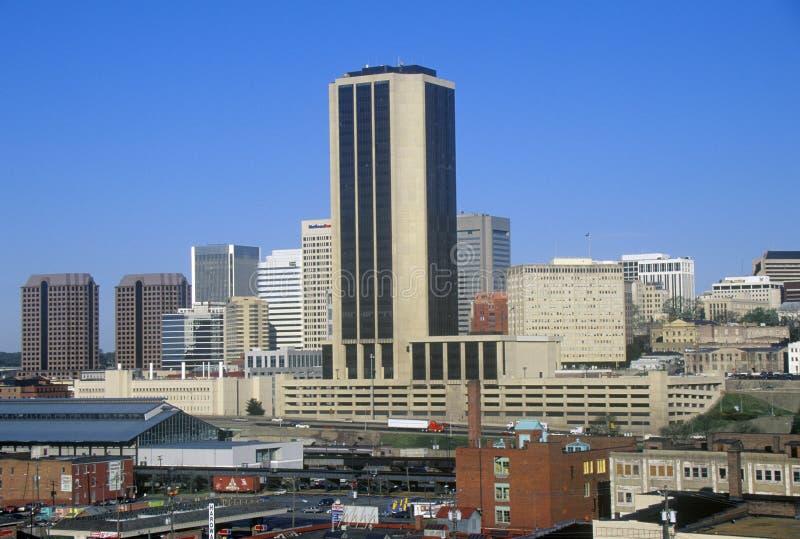 Skyline de Richmond, VA, capitol do estado imagens de stock royalty free
