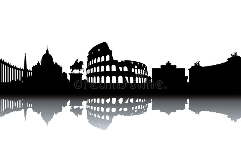 Skyline de Roma ilustração do vetor