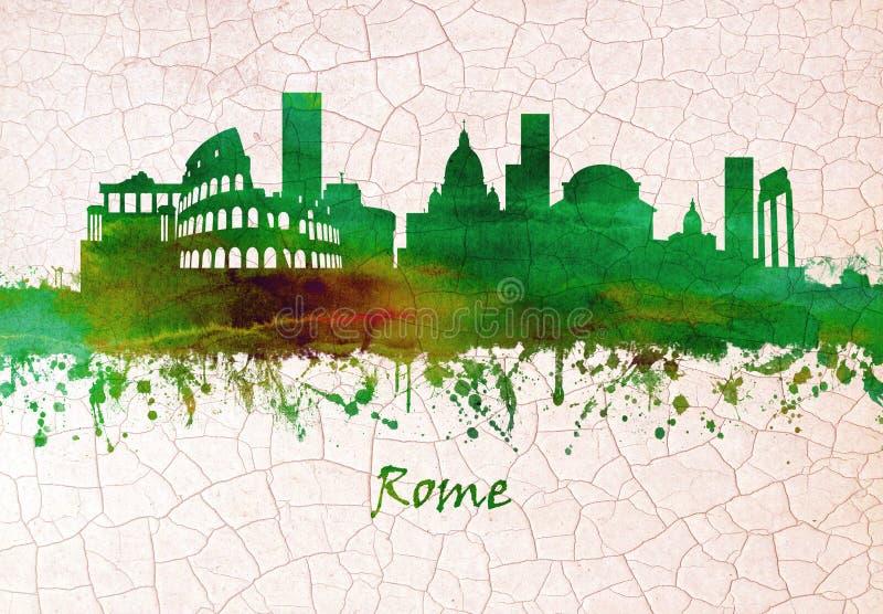 Skyline de Roma It?lia ilustração stock