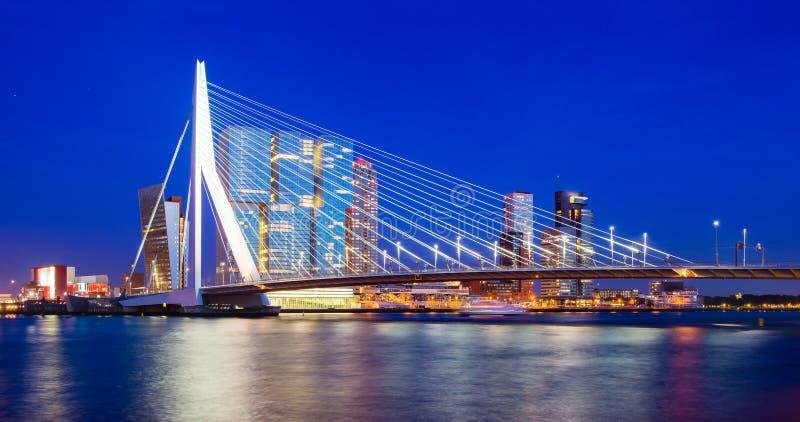 Skyline de Rotterdam imagem de stock