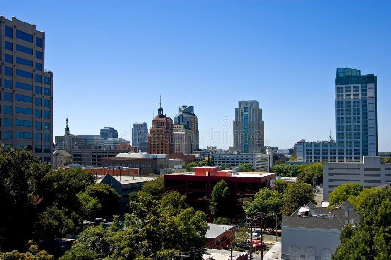 Skyline de Sacramento fotos de stock